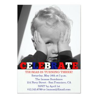 Invitaciones de la foto de la fiesta de cumpleaños