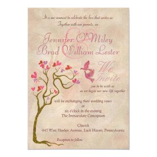 Invitaciones de la foto de la plantilla del boda invitación 12,7 x 17,8 cm