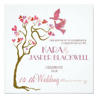 Invitaciones de la foto del aniversario de boda invitación 13,3 cm x 13,3cm