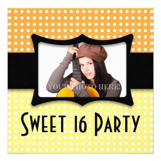 Invitaciones de la foto del lunar del dulce 16 comunicados