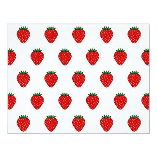 Invitaciones de la fresa invitación 10,8 x 13,9 cm