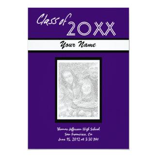 Invitaciones de la graduación invitación 12,7 x 17,8 cm