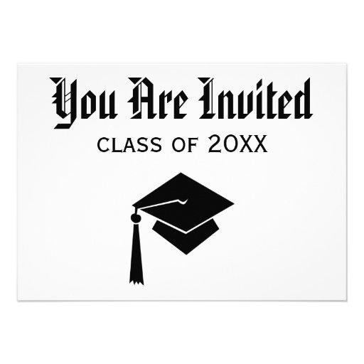 Invitaciones de la graduación anuncio personalizado