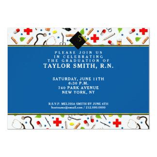 Invitaciones de la graduación de la enfermera invitación 12,7 x 17,8 cm