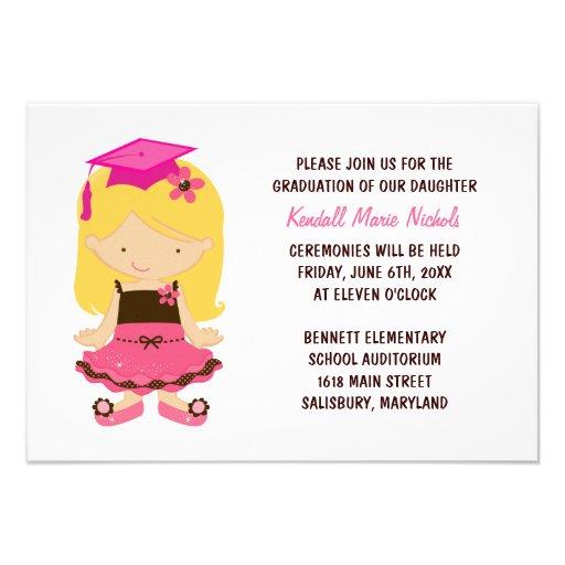 Elementary School Graduation Invitations