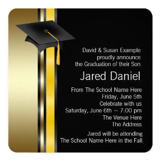 Invitaciones de la graduación de los muchachos invitación 13,3 cm x 13,3cm
