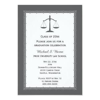 Invitaciones de la graduación del abogado del invitación 12,7 x 17,8 cm