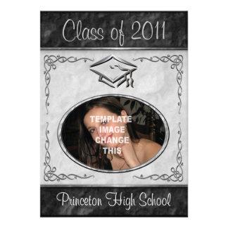 Invitaciones de la graduación del marco de la foto invitaciones personalizada