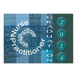 Invitaciones de la graduación del médico de la invitación 12,7 x 17,8 cm