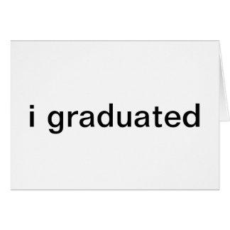 invitaciones de la graduación tarjeta de felicitación
