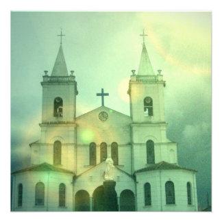 Invitaciones de la iglesia cristiana anuncio