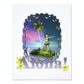 Invitaciones de la invitación de la hawaiana de