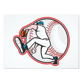 Invitaciones de la jarra del béisbol invitación 12,7 x 17,8 cm