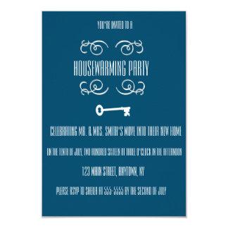 Invitaciones de la llave del fiesta del estreno de invitación 8,9 x 12,7 cm