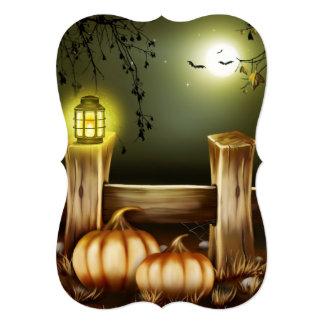Invitaciones de la luna de la granja y del fiesta invitación 12,7 x 17,8 cm