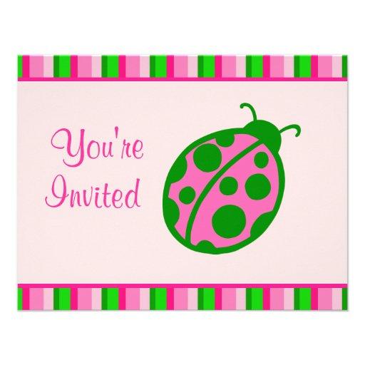 Invitaciones de la mariquita comunicado