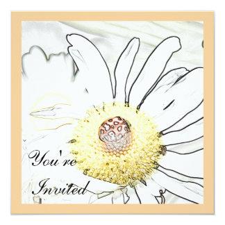 Invitaciones de la mariquita invitación 13,3 cm x 13,3cm