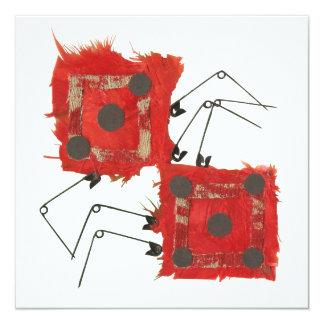 Invitaciones de la mariquita de los dados invitación 13,3 cm x 13,3cm