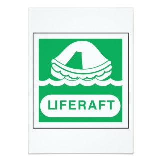 Invitaciones de la muestra de la balsa salvavidas
