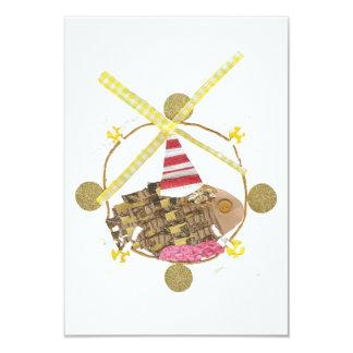 Invitaciones de la noria del hámster invitación 8,9 x 12,7 cm