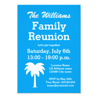 Invitaciones de la palmera del fiesta del verano invitación 12,7 x 17,8 cm