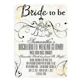 Invitaciones de la partida de LBD Bachelorette Invitación 11,4 X 15,8 Cm