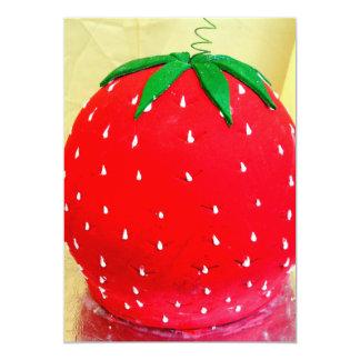 Invitaciones de la pasta de azúcar de la fresa invitación 12,7 x 17,8 cm