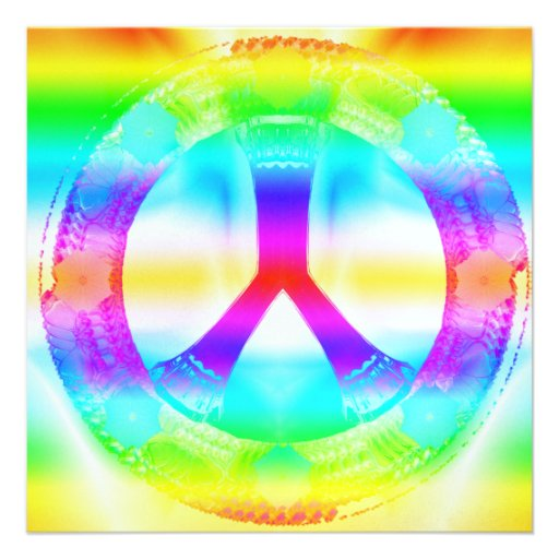 Invitaciones de la Paz-Hacia fuera del Hippie Invitacion Personalizada