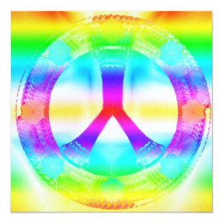 Invitaciones de la Paz-Hacia fuera del Hippie Invitación 13,3 Cm X 13,3cm