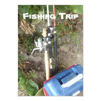 Invitaciones de la pesca o de la acampada invitación 12,7 x 17,8 cm