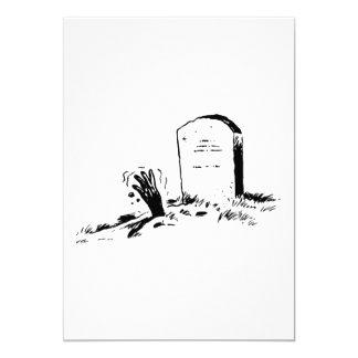 Invitaciones de la piedra sepulcral y de una mano