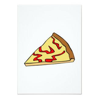 Invitaciones de la pizza de queso invitación 12,7 x 17,8 cm