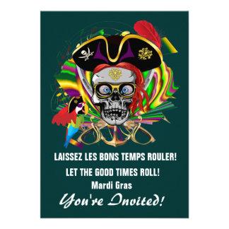 Invitaciones de la plantilla, pirata de las invita invitación