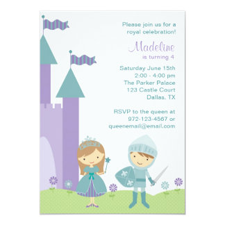 Invitaciones de la princesa y del caballero anuncio