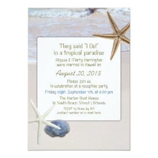 Invitaciones de la recepción nupcial de las invitación 12,7 x 17,8 cm