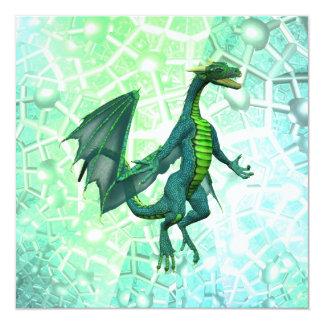 Invitaciones de la respiración de los dragones invitación 13,3 cm x 13,3cm
