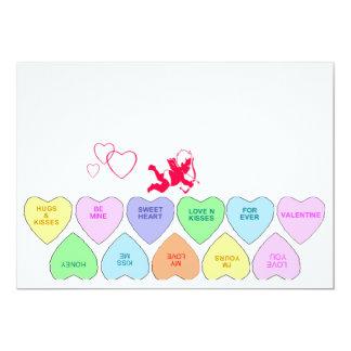 Invitaciones de la tarjeta del día de San Valentín