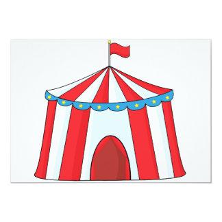 Invitaciones de la tienda de circo invitación 12,7 x 17,8 cm