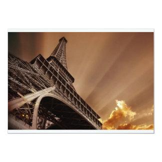 Invitaciones de la torre Eiffel Invitación 12,7 X 17,8 Cm