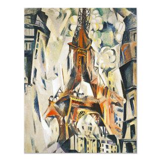 Invitaciones de la torre Eiffel de Roberto Invitación 10,8 X 13,9 Cm