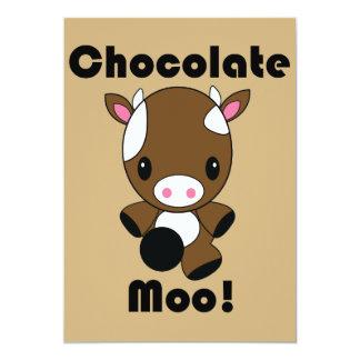 Invitaciones de la vaca del MOO Kawaii del Invitación 12,7 X 17,8 Cm