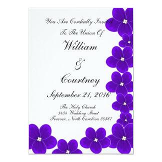 Invitaciones de la violeta africana invitación 12,7 x 17,8 cm