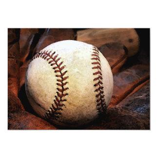 Invitaciones de las ilustraciones del béisbol invitación 12,7 x 17,8 cm