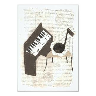 Invitaciones de las notas musicales invitación 8,9 x 12,7 cm