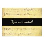 Invitaciones de las notas musicales de la invitación 12,7 x 17,8 cm