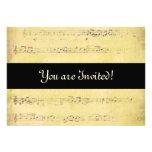 Invitaciones de las notas musicales de la antigüed comunicado