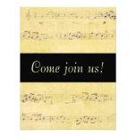 Invitaciones de las notas musicales de la antigüed anuncios personalizados