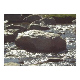 Invitaciones de lino de la roca invitación 12,7 x 17,8 cm