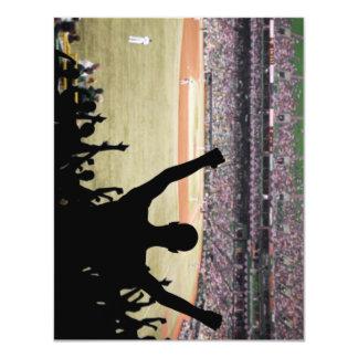 Invitaciones de los aficionados al béisbol invitación 10,8 x 13,9 cm
