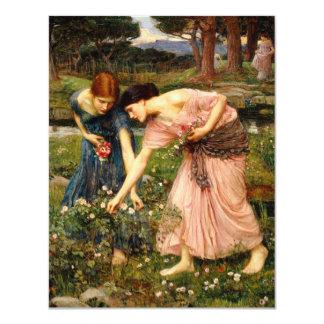 Invitaciones de los capullos de rosa de YE del Invitación 10,8 X 13,9 Cm